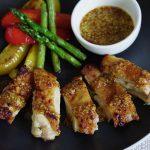 鶏もも肉のメープルマスタードソースがけ