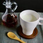 メープルシロップ入りホットミルク
